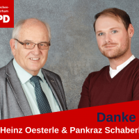 Heinz Oesterle und Pankraz Schaberl bedanken sich.